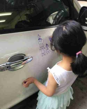 Photos: What Would You Do If Your Little Daughter Does This To Your Car?
